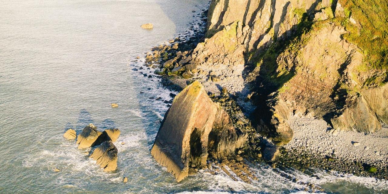 cliffs at Devon beach